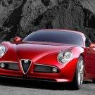 """Alfa Romeo 8C Competizione Car Poster Print on 10 mil Archival Satin Paper 16"""" x 12"""""""