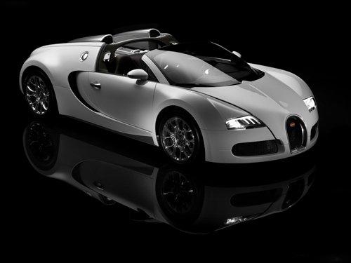 "Bugatti Veyron Grand Sport Car Poster Print on 10 mil Archival Satin Paper 16"" x 12"""