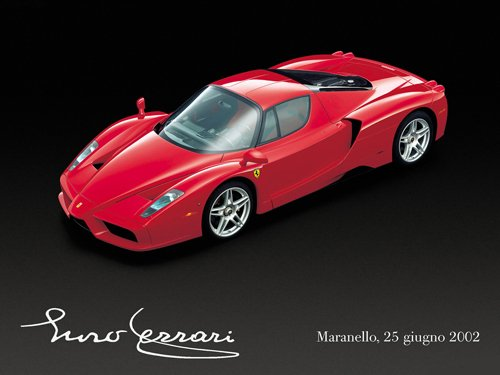 "Ferrari Enzo Car Poster Print on 10 mil Archival Satin Paper 16"" x 12"""