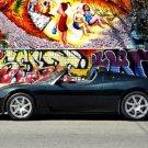 "Tesla Roadster Black Car Poster Print on 10 mil Archival Satin Paper 16"" x 12"""