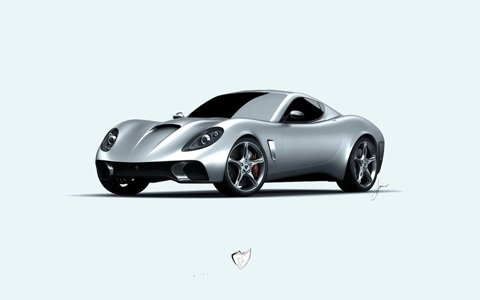"USD GT-S Passionata Concept Study Car Poster Print on 10 mil Archival Satin Paper 16"" x 12"""