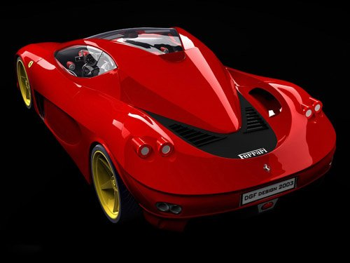 "DGF Design Ferrari Aurea Berlinetta Car Poster Print on 10 mil Archival Satin Paper 16"" x 12"""