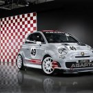 """Fiat 500 Abarth Assetto Corse Car Poster Print on 10 mil Archival Satin Paper 16"""" x 12"""""""
