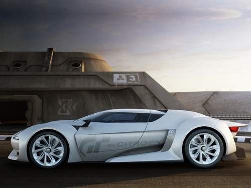 "Citroen GT Concept Car Poster Print on 10 mil Archival Satin Paper 16"" x 12"""