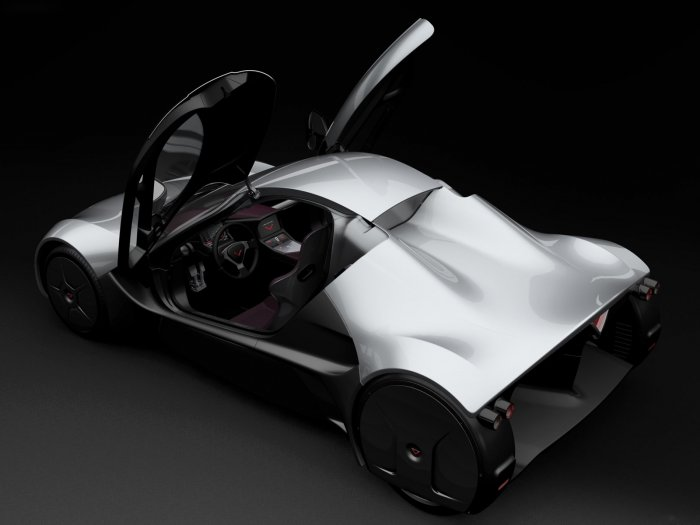 "Venturi Volage Concept Poster Car Print on 10 mil Archival Satin Paper 16"" x 12"""