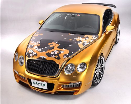 """Bentley Continental ASI W66 GTS Gold Car Poster Print on 10 mil Archival Satin Paper 16"""" X 12"""""""