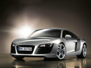 "Audi R8 Car Poster Print on 10 mil Archival Satin Paper 16"" x 12"""