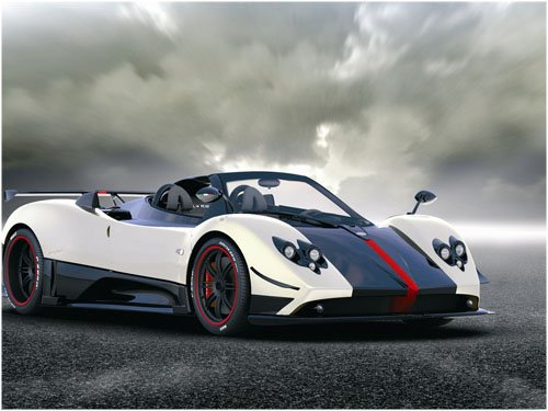"""Pagani Cinque Roadster 2010 Car Poster Print on 10 mil Archival Satin Paper 16"""" x 12"""""""