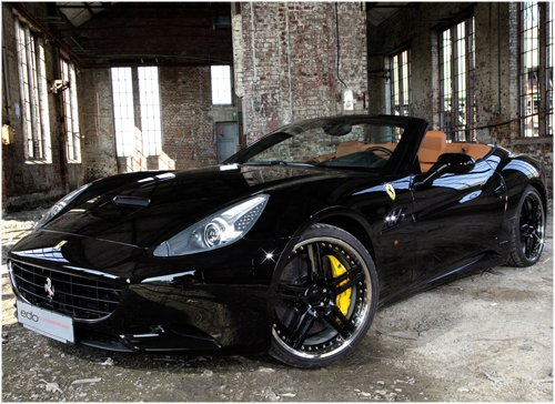 "Edo Ferrari California Car Poster Print on 10 mil Archival Satin Paper 16"" x 12"""