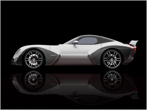 "Devon GTX Concept Car Poster Print on 10 mil Archival Satin Paper 16"" x 12"""