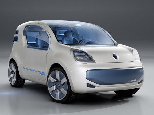 "Renault Kangoo ZE Concept Car Poster Print on 10 mil Archival Satin Paper 16"" x 12"""