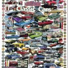 "Classic and Muscle Car Collage Car Poster Print on 10 mil Archival Satin Paper 18"" x 24"""