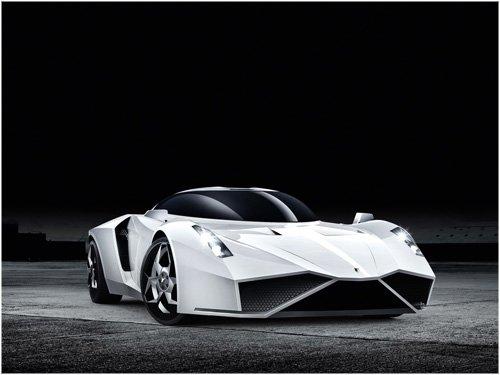 "e-Wolf e-2 Concept Car Poster Print on 10 mil Archival Satin Paper 16"" x 12"""