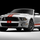"Ford Shelby GT500 Convertible 2011 Car Poster Print on 10 mil Archival Satin Paper 16"" x 12"""""