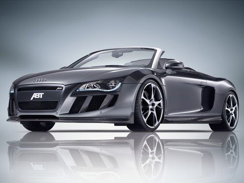 "ABT Audi R8 Spyder Car Poster Print on 10 mil Archival Satin Paper 16"" x 12"""