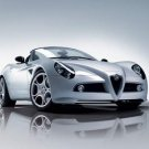 "Alfa Romeo 8C Spyder Car Archival Canvas Print (Rolled) 16"" x 12"""