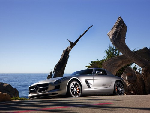 "Mercedes-Benz SLS AMG Gullwing Car Archival Canvas Car Print (Rolled) 16"" x 12"""
