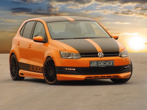 "Volkswagen Polo 2010 Car Archival Canvas Print  16"" x 12"""