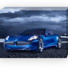 "Fisker Karma Car Archival Canvas Print (Mounted) 16"" x 12"""