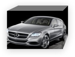 "Mercedes-Benz Shooting Brake 2010 Archival Canvas Print (Mounted) 16"" x 12"""