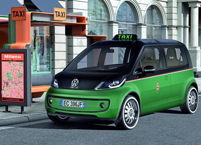 """Volkswagen Milano Taxi Concept Car Poster Print on 10 mil Archival Satin Paper 16"""" x 12"""""""