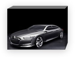 "Citroen Metropolis Concept Car Archival Canvas Print (Mounted) 16"" x 12"""