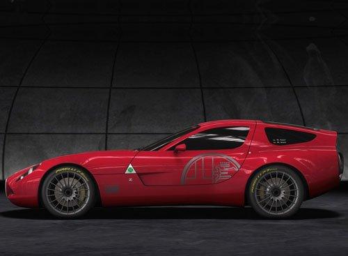 "Alfa Romeo TZ3 Corsa Concept Car Poster Print on 10 mil Archival Satin Paper 16"" x 12"""