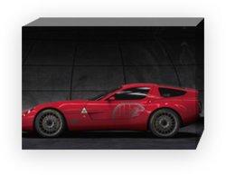 "Alfa Romeo TZ3 Corsa Concept Archival Canvas Print (Mounted) 16"" x 12"""