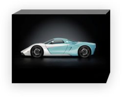 "Marussia B1 2010 Archival Canvas Print (Mounted) 16"" x 12"""