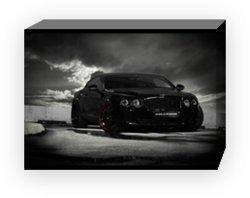 "Bentley Continental Ultrasports 702 Car Archival Canvas Print (Mounted) 16"" x 12"""