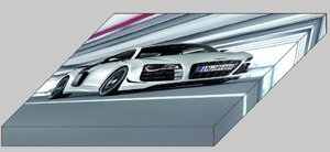 "Audi R8 GT 2011 Car Archival Canvas Print (Mounted) 16"" x 12"""