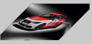 """Audi A1 Worthersee Tour Car Archival Canvas Print (Mounted) 16"""" x 12"""""""