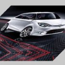 "MG Zero Concept 2010 Car Archival Canvas Print (Mounted) 16"" x 12"""