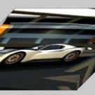 "Chevron GR8 Challenge Car Archival Canvas Print (Mounted) 16"" x 12"""
