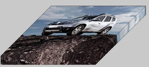 """Dacia Duster 2011 Car Archival Canvas Print (Mounted) 16"""" x 12"""""""