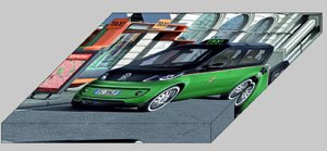 """Volkswagen Milano Taxi Concept Archival Canvas Print (Mounted) 16"""" x 12"""""""