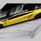 "Lamborghini BF Performance GT600 Archival Canvas Car Print (Mounted) 16"" x 12"""