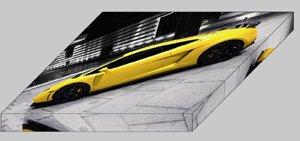"Lamborghini BF Performance GT600 Archival Canvas Car Print (Mounted) 16"" x 12"""