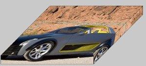 "Nissan Urge Archival Canvas Car Print (Mounted) 16"" x 12"""
