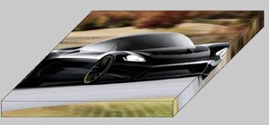 "Ultima RZ Concept Archival Canvas Car Print (Mounted) 16"" x 12"""