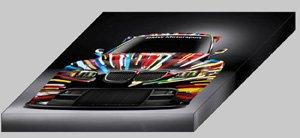"BMW M3 GT2 Art Archival Canvas Car Print (Mounted) 16"" x 12"""
