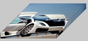 "GTA Spano Archival Canvas Car Print (Mounted) 16"" x 12"""