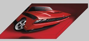 "Dodge Challenger Appearance Package 2010 Front View Car Archival Canvas Print (Mounted) 16"" x 12"""
