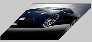 """Bugatti 12-2 Streamliner By Racer X Archival Canvas Car Print (Mounted) 16"""" x 12"""""""