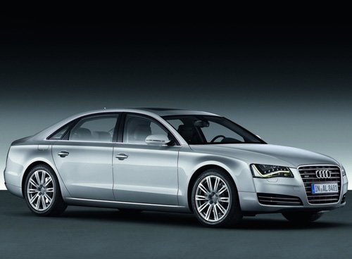 """Audi A8 L W12 2011 Archival Canvas Print (Rolled) 16"""" x12"""""""
