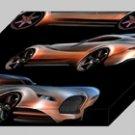 "Morgan EvaGT Concept Archival Canvas Car Print (Mounted) 16"" x 12"""