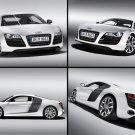 "Audi R8 V10 5.2 FSI quattro 2010 Montage Car Poster Print on 10 mil Archival Satin Paper 16"" x 12"""