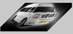 "Depp Auto Tuning Chevrolet Express Platinum Archival Canvas Car Print (Mounted) 16"" x 12"""
