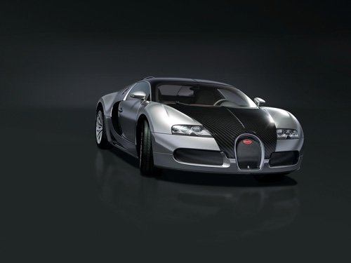"Bugatti Veyron Pur Sang Car Poster Print on 10 mil Archival Satin Paper 16"" x 12"""