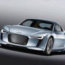 "Audi e-tron 2010 Detroit Show Car Poster Print on 10 mil Archival Satin Paper 16"" x 12"""